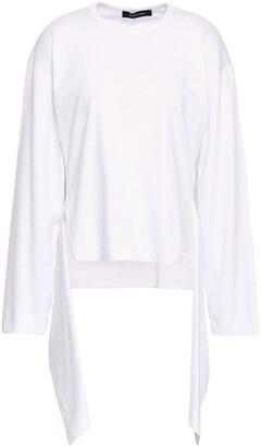 Cédric Charlier Draped Cotton-jersey Top