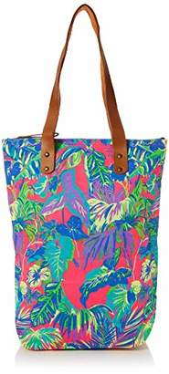 The Holiday Shop London Womens Canvas Beach Bag Tropical Canvas and Beach Tote Bag