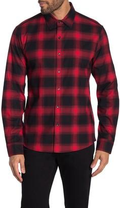 Michael Kors Reed Plaid Print Slim Fit Shirt