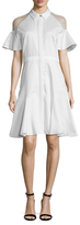 Prabal Gurung Cotton Poplin Flutter Dress