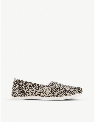 Toms Seasonal Classic leopard-print canvas shoes