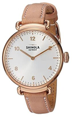 Shinola Detroit The Canfield 32mm - 20089878 (Blush Leather Strap/Silver Dial) Watches