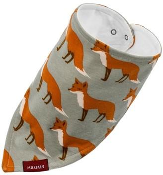 Milkbarn Organic Cotton Kerchief Bib - Orange Fox