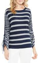 Vince Camuto Stripe Drawstring- Sleeve Jersey Sweater