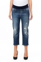 Pietro Brunelli Women's Distressed Crop Boyfriend Maternity Jeans