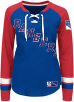 Majestic Women's New York Rangers Hip Check Long Sleeve T-Shirt