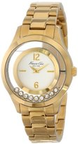 Kenneth Cole New York Women's KC4942 Transparency Dial Yellow Gold Floating Stoners Watch
