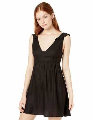 Volcom Junior's Women's Day Ruffled Sleeve Mini Dress