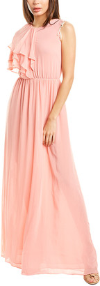 Pinko Soia Silk-Blend Maxi Dress