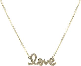 Sydney Evan Small Love Script Necklace