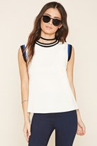 Forever 21 FOREVER 21+ Striped Trim Top