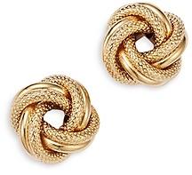 Bloomingdale's Love Knot Stud Earrings in 14K Yellow Gold- 100% Exclusive