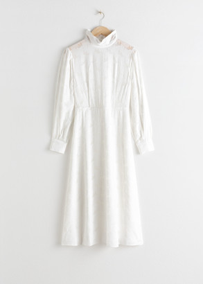 And other stories Turtleneck Jacquard Dress