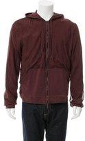 Lanvin Jersey-Lined Silk Hoodie