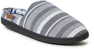 Dearfoams Men's Liden Woven Mule Slippers