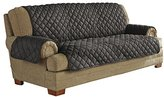 Serta Ultra Suede Waterproof Furniture Sofa Protector, Graphite