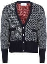 Thom Browne Tweed Penguin V-neck Cardigan