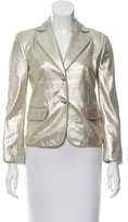 Valentino Metallic Leather Blazer