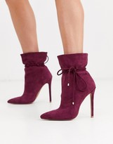 Asos Design DESIGN Estonia slouch ankle boots in purple