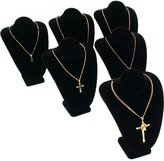 FindingKing 6 Velvet Necklace Pendant Busts Jewelry Displays Chain Showcases
