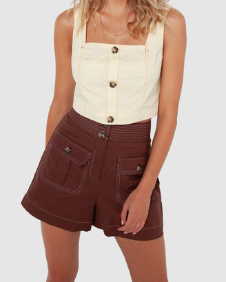 Madison The Label - Women's High-Waisted - Vienna Shorts - Size One Size, 8 at The Iconic