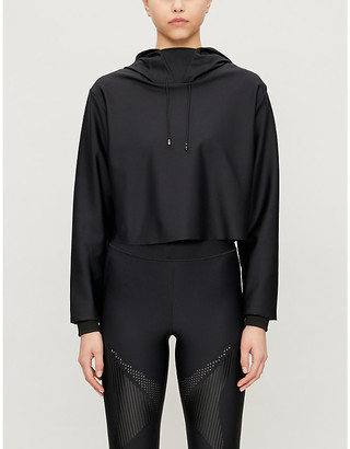 ULTRACOR Lynx cropped stretch-jersey hoody