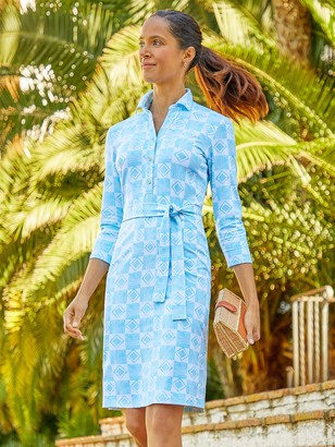 J.Mclaughlin Calla Dress in Trellis Tile