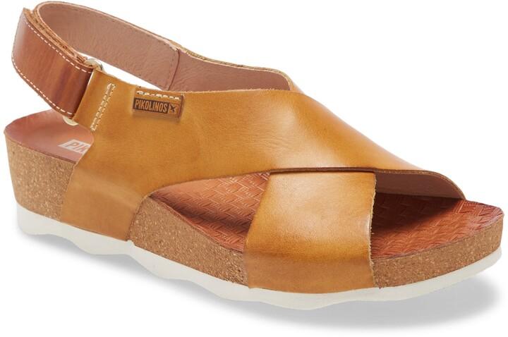 Womens Pikolinos Alcudia Gladiator Sandals Size 41 Onyx Silver Leather NEW