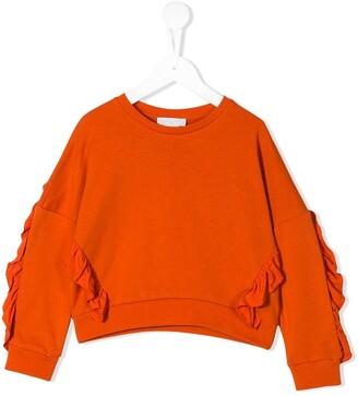 Stella McCartney ruffle detail sweatshirt
