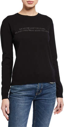 Valentino Knit Poem Embroidered Wool-Blend Sweater