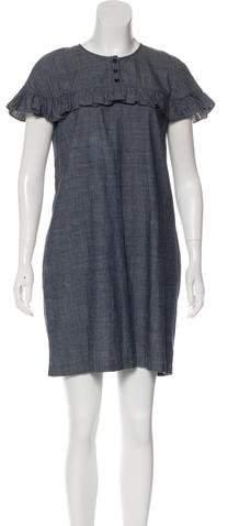 Burberry Ruffle Chambray Dress