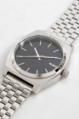 Nixon Time Teller Silver & Black Watch - Silver ALL at Urban Outfitters