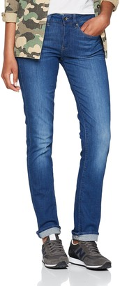 G Star Women's Midge Mid Waist Straight Jeans