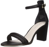 Kenneth Cole New York Women's Lex Block Heeled 2 Piece Sandal with Buckle Closure