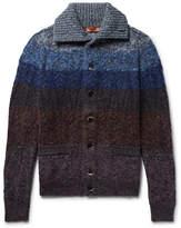 Missoni Striped Mélange Wool-blend Cardigan - Blue