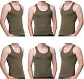 Godsen Men's 6 Pack A-Shirt Sleeveles Undershirts Tank Top M