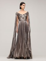 Thumbnail for your product : ZUHAIR MURAD Pleated Lurex Long Dress