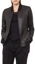 Akris Punto Women's Leather Trim Denim Jacket
