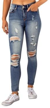 Indigo Rein Juniors' Ripped High Rise Skinny Jeans