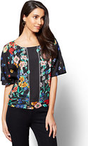 New York & Co. 7th Avenue - Dolman Blouse - Floral Print