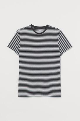 H&M Crew-neck Muscle Fit T-shirt - Black