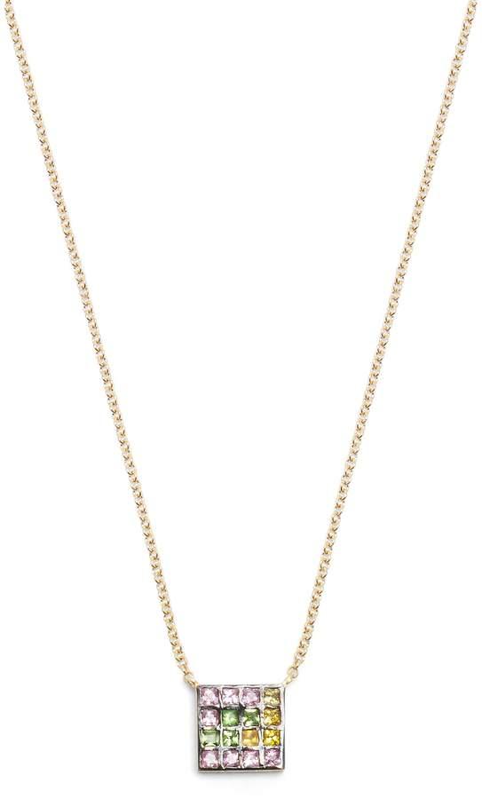 Ileana Makri Sapphire, amethyst, tsavorite & gold necklace