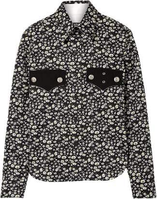 Calvin Klein Floral-print Cotton-twill Shirt