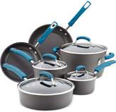 Rachael Ray Hard-Anodized 10 Piece Cookware Set, Marine Blue