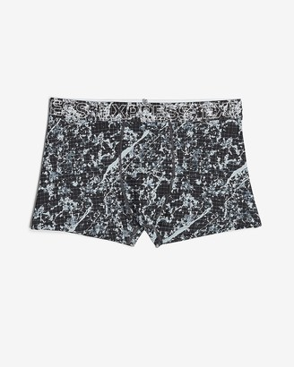 Express Marbled Performance Sport Trunks