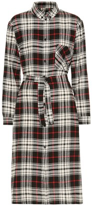 Woolrich Checked wool-blend shirtdress