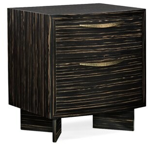 Caracole Modern Modern Edge Vector 2 Drawer Nightstand