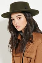 Forever 21 Wool Boater Hat