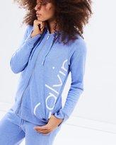 Calvin Klein Cut Off Logo Cross Back Hoodie
