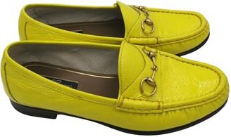 Gucci Brixton Yellow Patent leather Flats